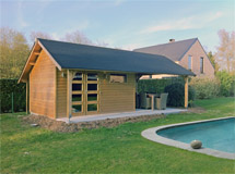 Cottage et pool house piscine Concept Abri