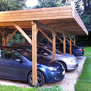 carport abri de voiture contemporain en bois import garden. Black Bedroom Furniture Sets. Home Design Ideas