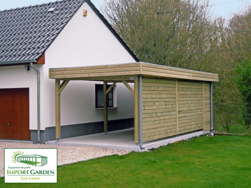 carport en bois pour garage. Black Bedroom Furniture Sets. Home Design Ideas