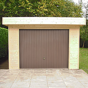 Garage bois toit plat design contemporain import garden for Garage en bois a toit plat