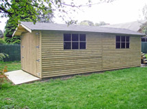 garage traditionnel en bois Concept Abri