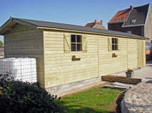 long garage en bois Concept Abri