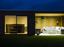 abri pool house Concept Abri design de nuit