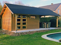 cottage pool house piscine Concept Abri