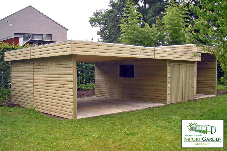 construction en bois abri de jardin garage carport tonnelle. Black Bedroom Furniture Sets. Home Design Ideas